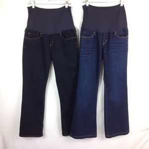 Gap Maternity Jeans Bundle Plus Sz 14 / 32 R